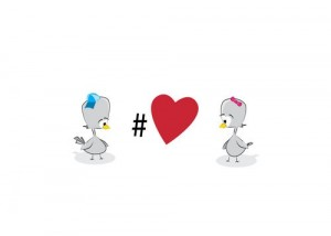 TwitterBirds Love Hashtags